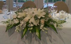 Wedding Reception Bridal Table Flowers 18