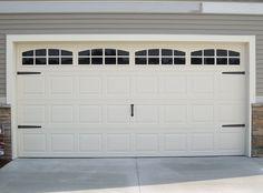 Plastic garage door window inserts