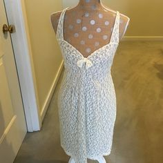 Free People Creme colored lacy dress! Beautiful stretchy dress! So great for spring! Perfect condition. Worn only a couple of times! Free People Dresses