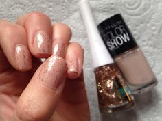 Bourjois Laser Toppings No 38 Sun Scales over two coats of Maybelline Color Show No 254 Latte  Love this combo :-)