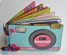 Tutorial Mini-Album Camara Fotografica | Scrapbookpasion