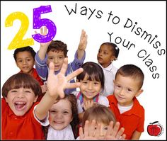 Terri's Teaching Treasures: 25 Fun Ways to Dismiss Your Class FREE printable list to keep as a record. Control the chaos of transitions and dismissal times with these ideas! Classroom Freebies, School Classroom, Music Classroom, Classroom Ideas, Behaviour Management, Class Management, Teaching Activities, Teaching Resources, Teaching Ideas