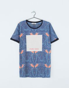 Bershka United Kingdom -PURE SOUL print T-shirt