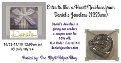 Daniel's Jewelers Silver Heart Necklace Giveaway ($225arv) - Night Helper