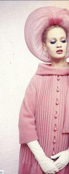 1962 Celia Hammond in design by Pierre Cardin, photo by Norman Parkinson