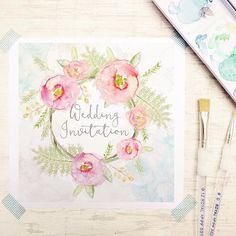 Lovely hand-drawing invitations from #lucyledger  #invitation #invitatons…