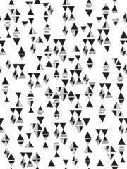 Triangles (Black) Tile // removable wallpaper from Lisa Congdon via Hygge + West.  For le bathroom.