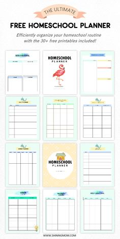 Click to download this ultimate FREE Homeschool Planner and create an efficient routine for your homeschooling. Easily organize lessons, activities, and schedules! #freeprintables #freeplanners #homeschool