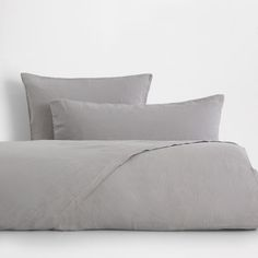 Image of the product Light Grey Washed Linen Bed Linen