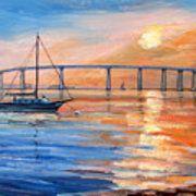 e432e51ab7 Coronado Bridge Foggy Sunset 2 Canvas Print   Canvas Art by Robert Gerdes