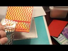 hot foiling with embossing folders - YouTube