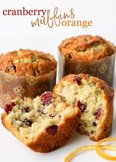 Exceptionally delicious Cranberry Orange Muffins are a must make this holiday season! Incredibly moist with a wonderfully tender crumb, this cranberry orange muffin recipe is beautifully flavored with fresh oranges and dried cranberries. Truly a memorable addition to any holiday breakfast or brunch! // GLORIOUS TREATS #cranberryorangemuffins #muffins #muffinrecipe #cranberry #orange Christmas Muffins Recipe, Christmas Cookies, Delicious Fruit, Yummy Food, Yummy Eats, Cranberry Orange Muffins, Baking Muffins, Muffin Recipes, Breakfast Recipes