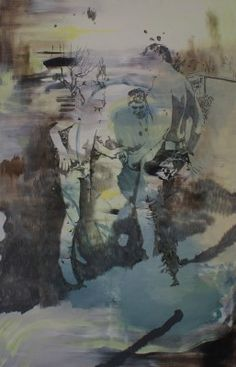 Miriam Vlaming, Kleingarten, 2015, Egg tempera on canvas, 160 x 100 cm, Courtesy Galerie Dukan | Galerie Dukan