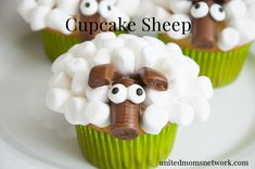 Easter Cupcakes:  Sheep Cupcakes + Video