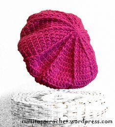 Patrones de boinas para crochet y tricot. Los gráficos para tejido nos  muestran el paso a paso para tejer una boina de forma sencilla. 141b53b29dc