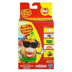 Playskool Mrs. Potato Head Honeymoon Spuds - Girl by Playskool. $15.00. Set includes Nose with sunscreen, Bare feet, Shorts, Grass skirt, Sunglasses, and Fruit hat.. Are your favorite toys ready for some spudtacular new adventures? These parts and pieces can help you create sunny memories for your MR. and MRS. POTATO HEAD toys - and celebrate sixty years of POTATO HEAD fun! (Potato, arms, mouth, ears and eyes sold separately.)