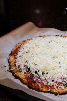 The Best Cauliflower Crust Pizza Recipe   Sequins & Stripes #recipe #cauliflowercrust #pizza