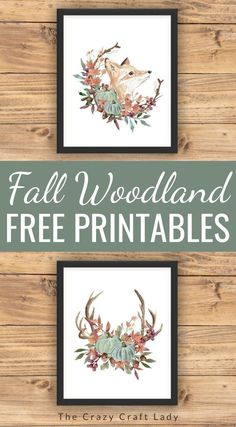 Grab these FREE fall home decor printables to update your gallery walls or for fall crafts. Fall woodland watercolor printbales Cactus Wall Art, Cactus Print, Modern Fall Decor, Cactus Photography, Fall Crafts, Pumpkin Crafts, Diy Crafts, Digital Print, Rustic Art