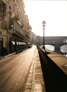 Florence Italy.  Rode my bike along these streets and bridges every morning before the heat would hit, summer of 2005! RF