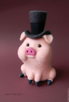 Not clay, but I'd like to change that! Needle Felted Animals, Felt Animals, Geek Crafts, Diy And Crafts, Needle Felting Tutorials, Cute Piggies, This Little Piggy, Cute Toys, Felt Diy