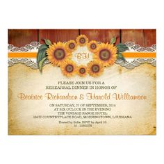 Shoppingwood and sunflowers rehearsal dinner invitationsin each seller & make purchase online for cheap. Choose the best price and best promotion as you thing Secure Checkout you can trust Buy best