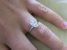 14K White gold single solitaire Marquise shape by eternaltouch, $5682.00