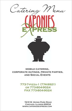 Caponies Express food truck catering menu - page 2 of 4 - Chicago ...