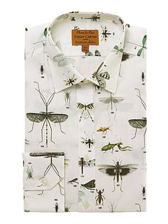 Simon Carter Insect print slim fit shirt - House of Fraser