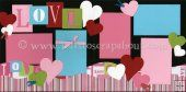 Love Scrapbook Page Kit