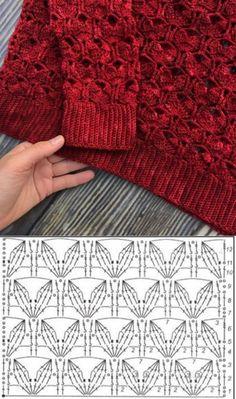 Watch This Video Beauteous Finished Make Crochet Look Like Knitting (the Waistcoat Stitch) Ideas. Amazing Make Crochet Look Like Knitting (the Waistcoat Stitch) Ideas. Gilet Crochet, Crochet Motifs, Crochet Stitches Patterns, Crochet Blouse, Crochet Chart, Crochet Baby, Stitch Patterns, Knit Crochet, Knitting Patterns