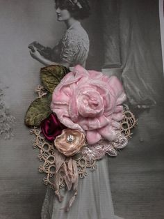 victorian,shabby chic, brooch,corsage,hair…