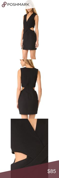 Kendall+Kylie Collection dress Brand new with tags Kendall+Kylie deep plunge cutout dress. Slit at thigh. Kendall & Kylie Dresses Mini