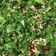 Kale-Quinoa Salad. Nutritious, delicious, loaded with protein, fiber & flavor. NutritionSheila.com