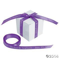 Personalized+Purple+Ribbon+-+OrientalTrading.com
