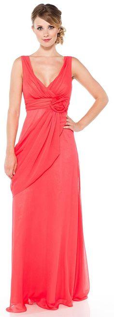 Wrap Formal Dress with Flower Waist.