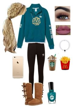 """""""Snack"""" by kingkaitelin15 ❤ liked on Polyvore featuring adidas Originals, UGG and Kylie Cosmetics"""