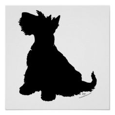 Shop Scottish Terrier Silhouette Poster created by MaggieRossScotties. Rabbit Silhouette, Animal Silhouette, Farm Animal Quilt, Dog Quilts, Dog Logo, Dog Pin, Celtic Art, Dog Sweaters, Beautiful Dogs