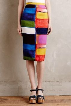 Tracy Reese Colorfield Pencil Skirt #AnthroFave