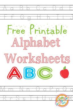 Let's learn the ABC's with these FREE printable alphabet worksheets from Kids Activities Blog! There are a lot of great ways you