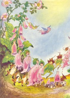 Illustration by Hilda Boswell, from Enid Blyton's Foxglove Story Book.