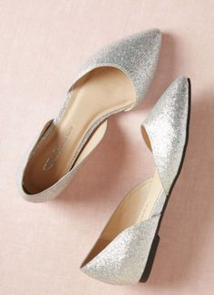 f508d1c9b5f5 Silver flats with pointed toe Silver Flats