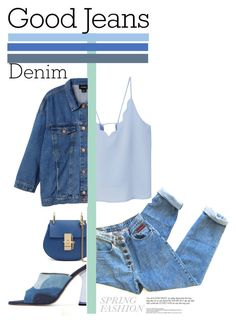 """Double Down on Denim"" by piedraandjesus ❤ liked on Polyvore featuring MANGO, Monki, Amélie Pichard and Denimondenim"