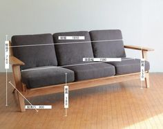 【楽天市場】北欧 3人用ソファ NRT-S-303P-BK オーク材 北欧 家具:NORTE Outdoor Wood Furniture, Furniture Plans, Wooden Sofa Designs, French Sofa, Sofa Inspiration, Interior Desing, Scandinavian Furniture, Modern Sofa, Bed Design