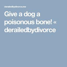 Give a dog a poisonous bone! « derailedbydivorce