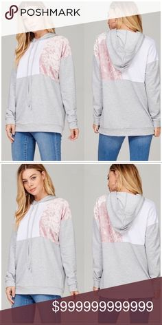 COMING SOON! Velvet Square Pullover Pink Velvet Square Pullover. Material Contents: French Terry and Velvet. Made In The USA!! Tops Sweatshirts & Hoodies