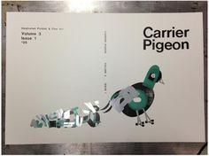 3 color letterpress image by Richard Kegler for Carrier Pigeon magazine