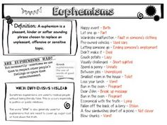 Worksheets Euphemism And Doublespeak Worksheet Answers examples of doublespeak and euphemism free document download for euphemisms