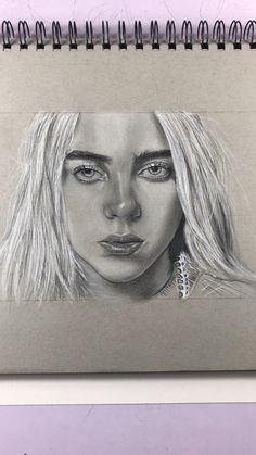 Eilish Billie - artwork- portrait drawing- DjaRodney Art artworks - Click On The Link