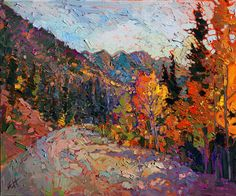 Impressionistic landscape painting of Utah National Park, by Erin Hanson