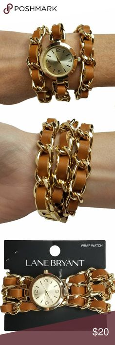 Lane Bryant Wrap Watch Don't let time get away from you, wrap yourself in it and embrace your own style. Faux leather, gold tone chain and watch trim. No Trades. Lane Bryant Jewelry Bracelets
